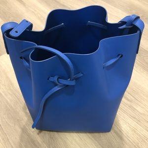 Mansur gavriel royal blue bucket bag